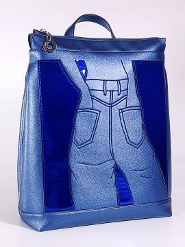 Фото товара: рюкзак 2103 синій-перламутр. Вид 1.