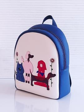 Фото товара: рюкзак KH0071 білий-синій. Вид 2.