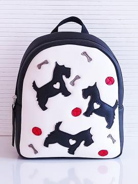 Фото товара: рюкзак KH0072 білий-чорний. Вид 1.