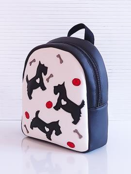Фото товара: рюкзак KH0072 білий-чорний. Вид 2.