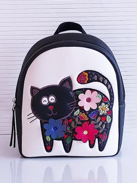 Фото товара: рюкзак KH0141 білий-чорний. Вид 1.