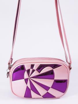 Фото товара: сумка через плече 2112 рожевий-перламутр. Вид 1.