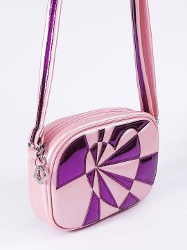 Фото товара: сумка через плече 2112 рожевий-перламутр. Вид 2.