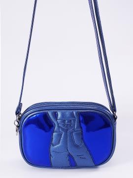 Фото товара: сумка через плече 2113 синій-перламутр. Вид 1.