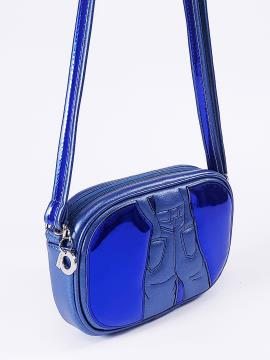 Фото товара: сумка через плече 2113 синій-перламутр. Вид 2.