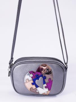 Фото товара: сумка через плече 2116 нікель. Вид 1.