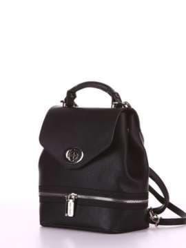 Модный мини-рюкзак, модель 180311 черный. Изображение товара, вид сбоку.
