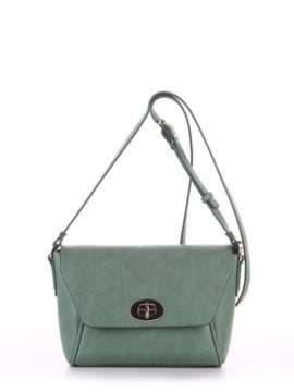 Молодежная сумка маленькая, модель 180322 зеленый. Изображение товара, вид спереди.