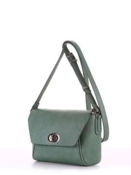 Молодежная сумка маленькая, модель 180322 зеленый. Изображение товара, вид сбоку.