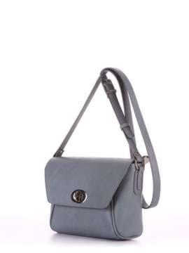 Брендовая сумка маленькая, модель 180323 серый. Изображение товара, вид сбоку.