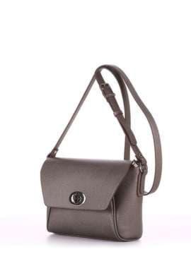 Модная сумка маленькая, модель 180325 серый. Изображение товара, вид сбоку.