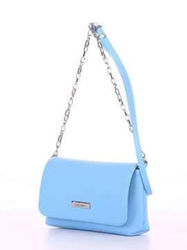Модный клатч, модель 180301 голубой. Изображение товара, вид сбоку.
