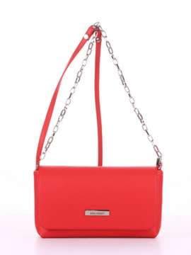Брендовый клатч, модель 180302 красный. Изображение товара, вид спереди.