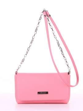 Модный клатч, модель 180304 розовый. Изображение товара, вид спереди.