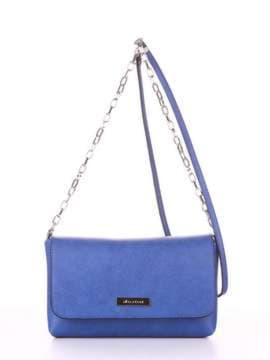Молодежный клатч, модель 180338 синий-электрик. Изображение товара, вид сбоку.