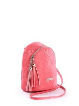 Женский мини-рюкзак с вышивкой, модель 171544 коралловый. Изображение товара, вид сбоку.