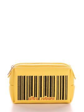 Фото товара: косметичка 621 желтый. Вид 1.