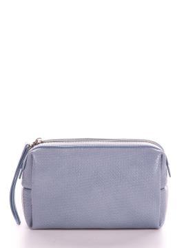 Фото товара: косметичка 633 серо-голубой. Вид 1.