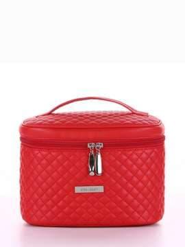 Стильная косметичка, модель 324 красный. Изображение товара, вид спереди.