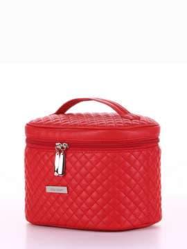 Брендова косметичка, модель 324 червоний. Зображення товару, вид збоку.