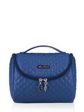 Стильная косметичка, модель 331 синий. Изображение товара, вид спереди.