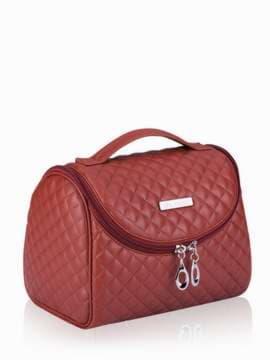 Модная косметичка, модель 333 коричневый. Изображение товара, вид сбоку.