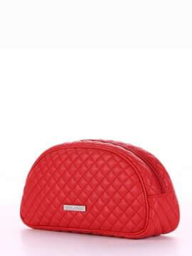 Брендовая косметичка, модель 344 красный. Изображение товара, вид спереди.