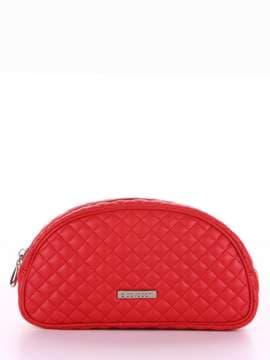 Брендовая косметичка, модель 344 красный. Изображение товара, вид сбоку.