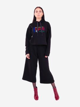 Фото товара: жіночий костюм з кюлотами L чорний (202-011-01). Вид 1.