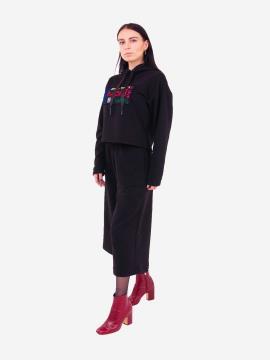 Фото товара: женский костюм с кюлотами L черный (202-011-01). Вид 2.