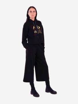 Фото товара: жіночий костюм з кюлотами L чорний (202-012-01). Вид 1.