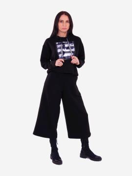 Фото товара: жіночий костюм з кюлотами L чорний (202-013-01). Вид 1.