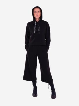 Фото товара: жіночий костюм з кюлотами L чорний (202-014-01). Вид 1.