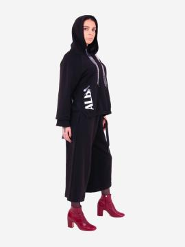 Фото товара: жіночий костюм з кюлотами L чорний (202-015-01). Вид 2.