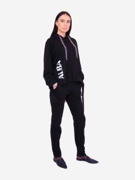 Фото товара: жіночий костюм з брюками L чорний (202-015-02). Вид 2.