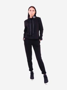 Фото товара: жіночий костюм з брюками L чорний (202-016-02). Вид 1.