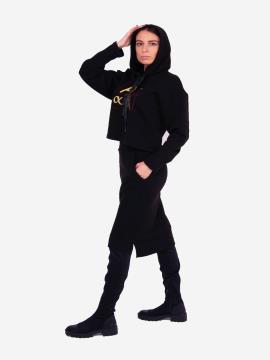 Фото товара: жіночий костюм з юбкою L чорний (202-012-03). Вид 2.