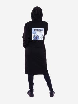 Фото товара: жіночий костюм з юбкою L чорний (202-014-03). Вид 2.