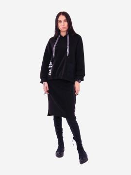 Фото товара: жіночий костюм з юбкою L чорний (202-015-03). Вид 1.