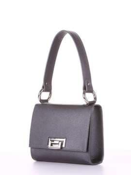 Стильная сумка маленькая, модель E18026 графит. Изображение товара, вид сбоку.