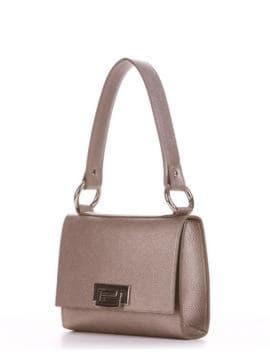 Стильная сумка маленькая, модель E18028 золотая олива. Изображение товара, вид сбоку.