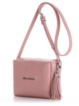 Стильный клатч, модель E18049 пудрово-розовый. Изображение товара, вид сбоку.