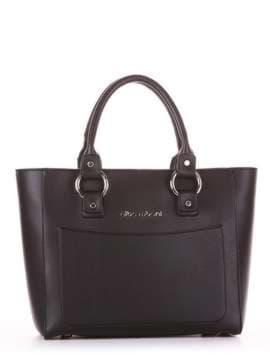 Молодежная сумка, модель 181721 черный. Изображение товара, вид спереди.