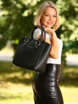 Молодежная сумка, модель 181721 черный. Изображение товара, вид сбоку.