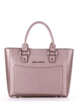 Модна сумка, модель 181723 бронза. Зображення товару, вид спереду.
