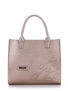 Брендовая сумка с вышивкой, модель E18008 золотая олива. Изображение товара, вид спереди.