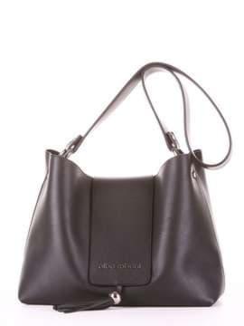 Модная сумка, модель E18031 черный. Изображение товара, вид спереди.