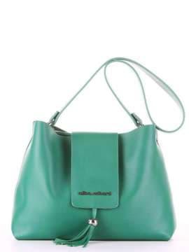 Брендовая сумка, модель E18035 зеленый. Изображение товара, вид спереди.