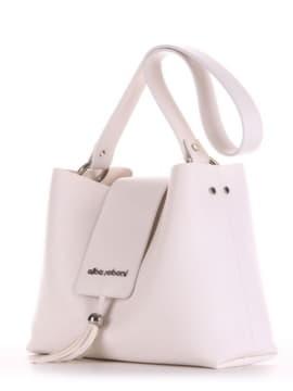 Стильная сумка, модель E18037 белый. Изображение товара, вид сбоку.