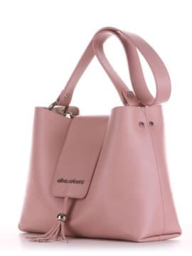 Модная сумка, модель E18039 пудрово-розовый. Изображение товара, вид сбоку.